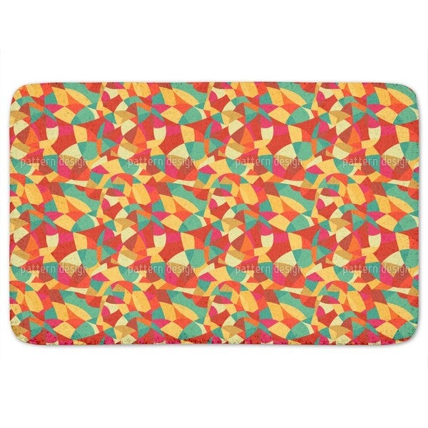 Abstract Expressionism Bath Mat