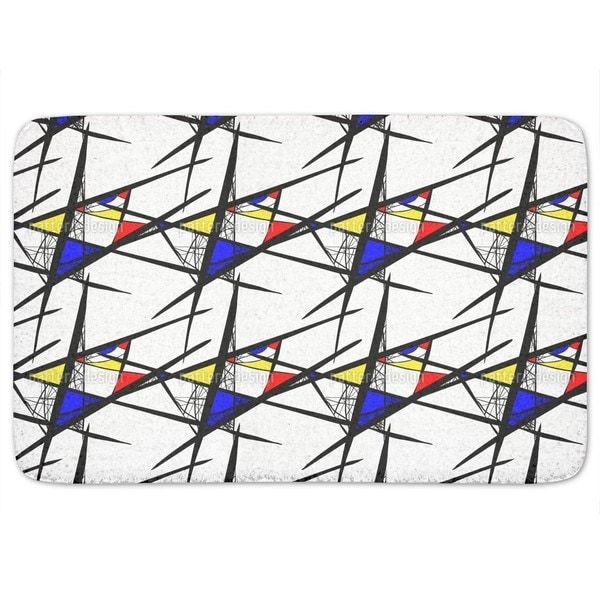 Abstract Composition Bath Mat