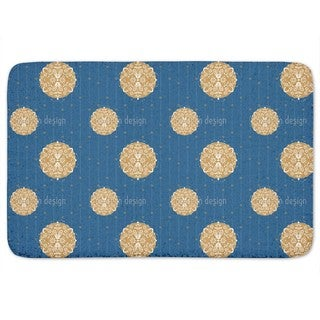 Abstract Christmas Ornaments Bath Mat