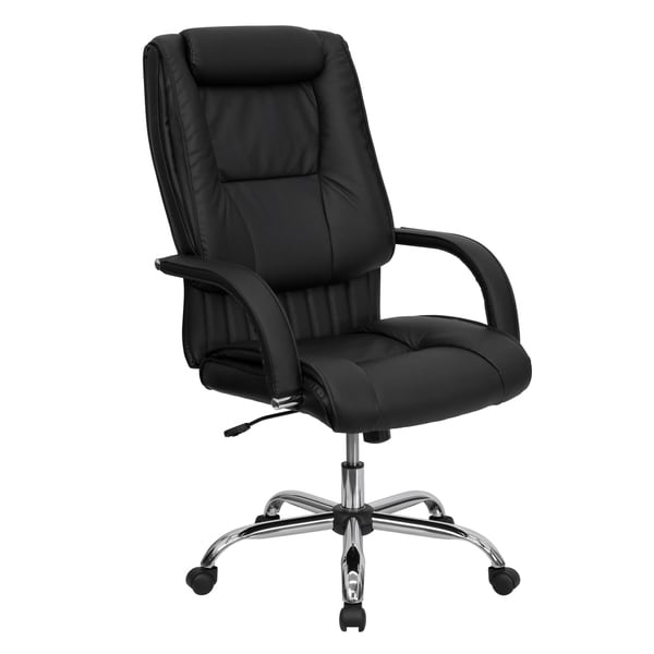 husun black leather executive swivel adjustable office chair free