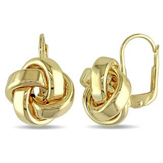 Miadora 10k Yellow Gold Italian Love Knot Leverback Earrings|https://ak1.ostkcdn.com/images/products/11613488/P18550167.jpg?impolicy=medium