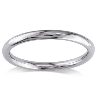 Miadora 14k White Gold Solid Gold Wedding Band