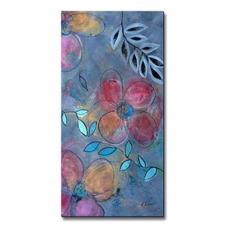 Ruth Palmer 'Grunge Floral 2' Metal Wall Art