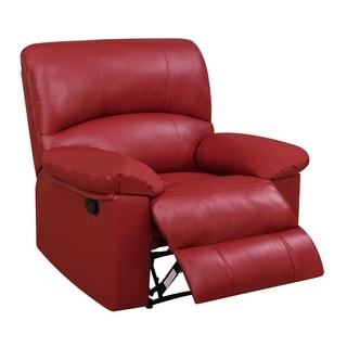 Global Furniture Red Faux Leather Recliner