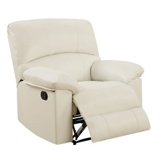 Global Furniture White Faux Leather Upholstery
