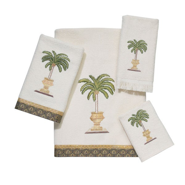 Date Palm 4-piece Embroidered Towel Set