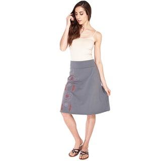 Hand-stitched Dreamcatcher Organic A-line Skirt (Nepal)