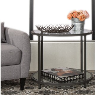 Clay Alder Home Blair Pewter Metal Round Side Table