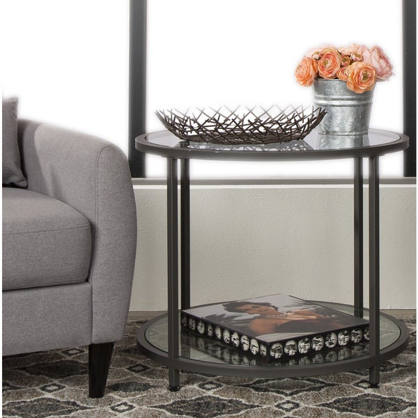 Studio Designs Home Camber Pewter Metal Round Side Table