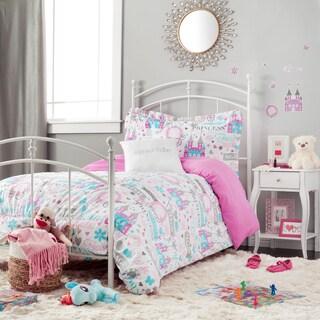 Sparkle Princess White and Purple 5-piece Comforter Set with Decorative Pillow