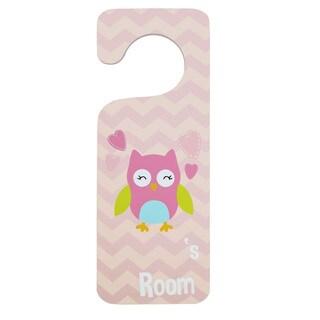 Girl Owl Door Hanger