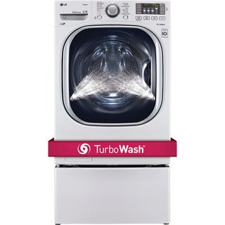 LG WM4270HWA 4.5-cubic Foot Ultra Large Capacity TurboWash Washer with NFC Tag On in White