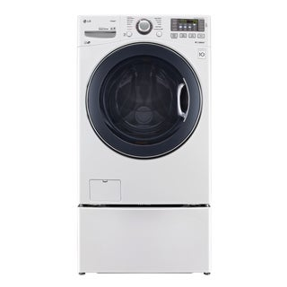 LG WM3570HWA 4.3-cubic Foot Ultra Large Capacity TurboWash Washer with NFC Tag On in White