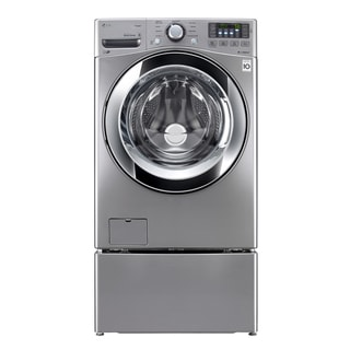 LG WM3370HVA 4.3-cubic Foot Ultra-Large Capacity with Steam Technology in Graphite Steel