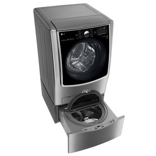 LG WM9000HVA 5.2-cubic Foot MEGA Capacity with On-Door Control Panel and TurboWash in Graphite Steel