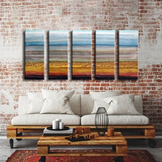 Ready2HangArt Norman Wyatt Jr. 'Heaven and Earth' 5-piece Wrapped Canvas Set