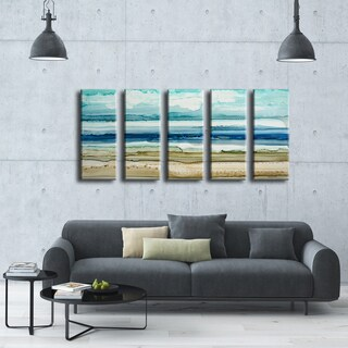 Ready2HangArt Norman Wyatt Jr. 'Dreamers Shore' 5-piece Wrapped Canvas Art Set