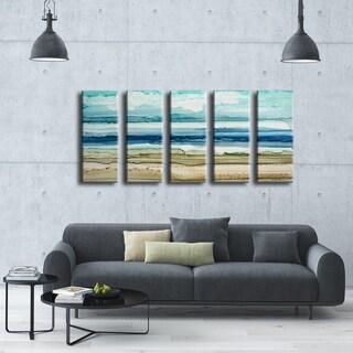 Ready2HangArt Norman Wyatt Jr. 'Dreamers Shore' 5-piece Wrapped Canvas Art Set