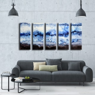 Ready2HangArt Norman Wyatt Jr. 'Glacier' 5-piece Wrapped Canvas Set