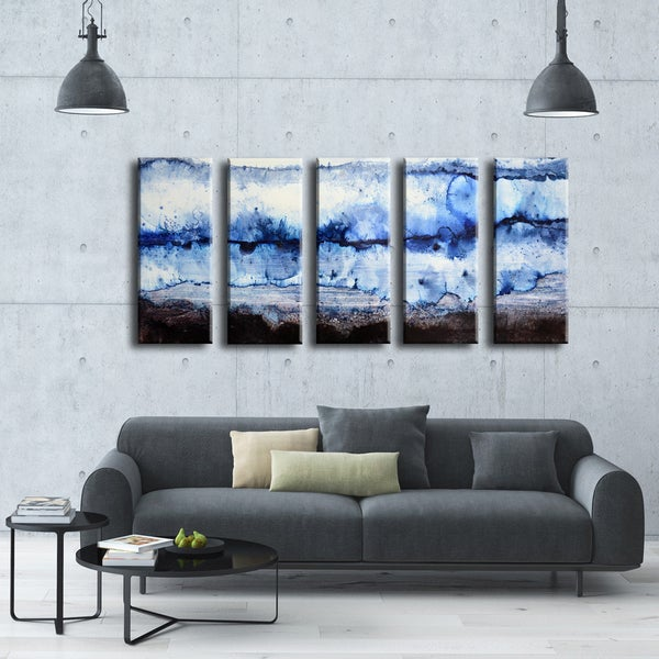 Ready2HangArt Norman Wyatt Jr. 'Glacier' 5-piece Wrapped Canvas Set