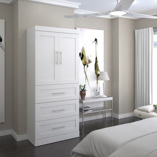 Pur by Bestar 36-inch Storage Unit with 3-drawer Set and Doors|https://ak1.ostkcdn.com/images/products/11613794/P18550387.jpg?impolicy=medium