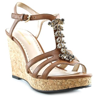 Adrienne Vittadini Women's 'Canis' Faux Leather Sandals