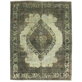 ecarpetgallery Hand-Knotted Persian Vogue Blue, Green Wool Rug (8'3 x 10'6)
