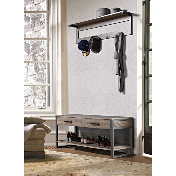 Shop Homestar Entry Way Bench Overstock 11613858