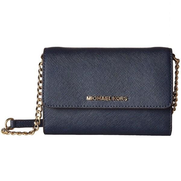 2670a6e4526d Shop Michael Kors Jet Set Navy Travel Large Phone Crossbody Handbag ...