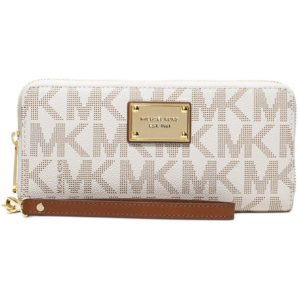 5abc07645f84 Shop Michael Kors Jet Set Item Vanilla and Gold Travel Continental ...