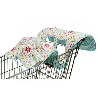 The Peanut Shell Reversible Cart Cover in Mila Print