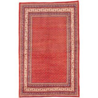 ecarpetgallery Hand-Knotted Arak Red Wool Rug (5'11 x 9'5)