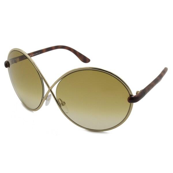 3cc642a7ff Shop Tom Ford Women s TF0159 Beatrix Round Sunglasses - Free ...
