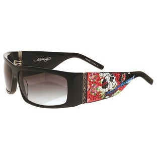 Ed Hardy Beautiful Ghost Shield : Black/Grey Sunglasses