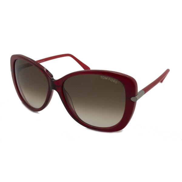 f570f6bc576d2 Shop Tom Ford Women s TF0324 Linda Oversize Sunglasses - Free Shipping  Today - Overstock.com - 11613941