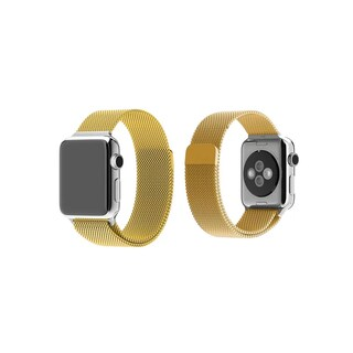 iPM Milanese Stainless Steel Mesh with Magnet Closure Replacement Bracelet for Apple Watch (Option: Gold - 42mm)