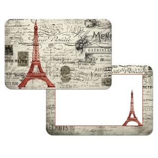 Counterart Reversible Plastic Wipe Clean Placemats - Eiffel Tower Vintage Paris (Set of 4)