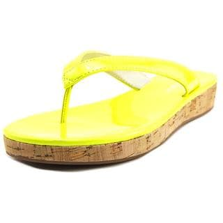 Nine West Women's 'So Savvy' Yellow Patent Sandals