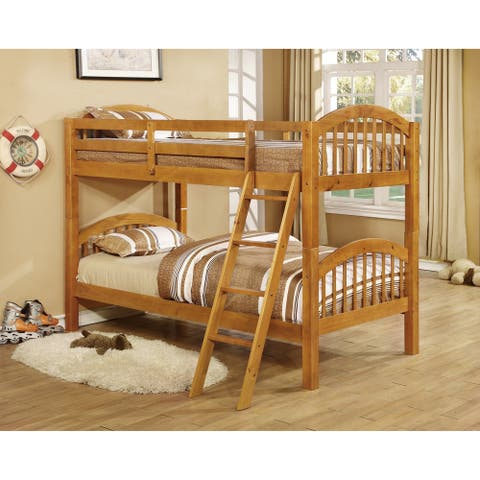 Glenmount Convertible Twin Arched Bunk Bed