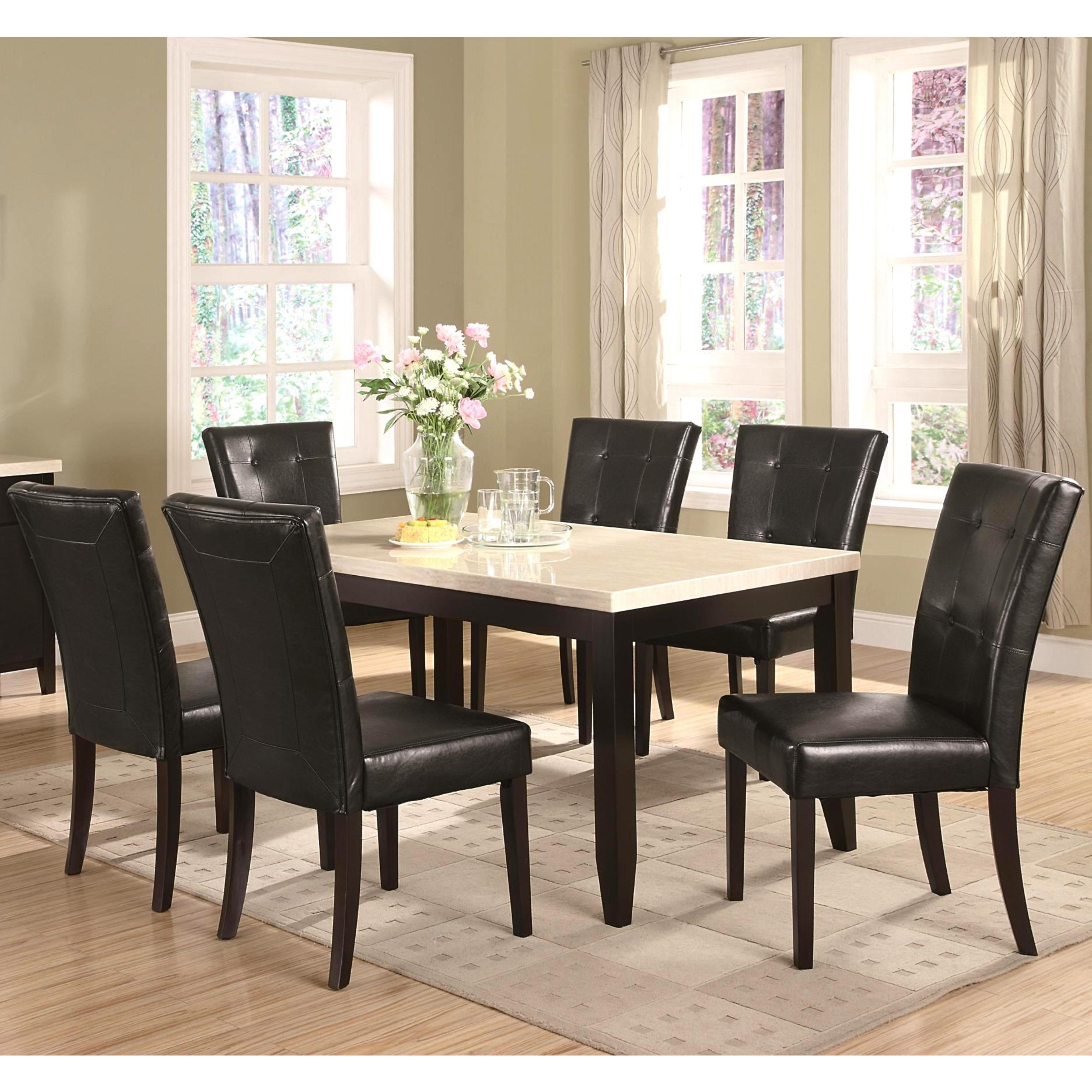 Sasfay Contemporary Style Dining Set with Faux Cream (Ivo...