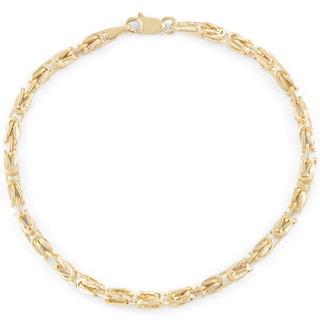 Gioelli 14k Gold Petite Square Byzantine Bracelet