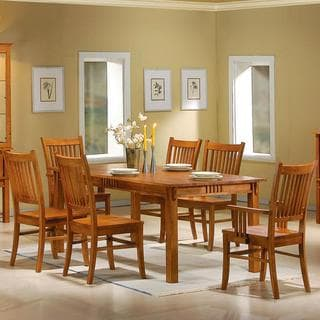 Mid Century Design Wood Mission Country Style Dining Set