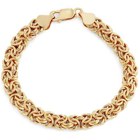 14k Gold Bold Byzantine Bracelet by Gioelli