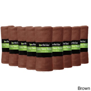Soft Wholesale Fleece Blankets- 24 Pack Assorted Fleece Throw Lot (50 x 60) (More options available)