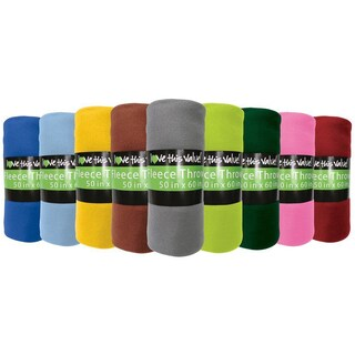 Soft Wholesale Fleece Blankets- 24 Pack Assorted Fleece Throw Lot (50 x 60) (Option: Green)