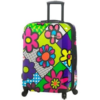 Mia Toro Italy Flower Largo 24-inch Fashion Hardside Spinner Upright Suitcase