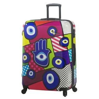 Mia Toro Italy Hamsa 28-inch Fashion Hardside Spinner Upright Suitcase