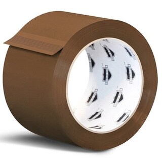 (24 ROLLS) TAN PACKING SEALING TAPE 3-inch x 110 YARDS BOX SHIPPING TAPE 1.8 MIL