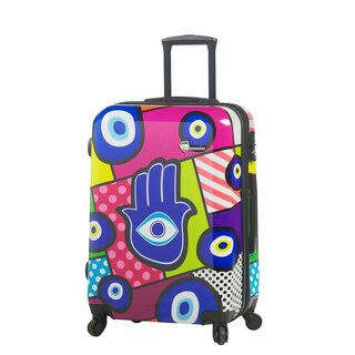 Mia Toro Italy Hamsa 24-inch Fashion Hardside Spinner Upright Suitcase