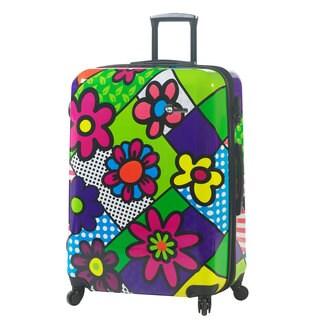 Mia Toro Italy Flower Largo 28-inch Fashion Hardside Spinner Upright Suitcase